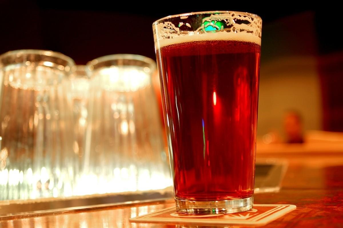 pinta americana bicchiere birra